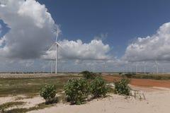 Wind power in Rio Grande do Norte, Brazil. The wind turbines park in Rio Grande do Norte, Brazil Royalty Free Stock Photos