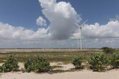 Wind power in Rio Grande do Norte, Brazil. The wind turbines park in Rio Grande do Norte, Brazil Stock Photos