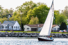 Wind Power Sail Boat Royalty Free Stock Image