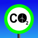 Wind power sign Stock Image