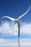 Wind power with sky in background Stock Images