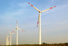 Wind power station. In the Weihai Shandong China already everywhere obviously Royalty Free Stock Image