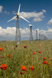 Wind power station in beautiful place Stock Photography