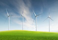 Wind power station Stock Images
