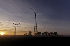Wind power station in Germany Royalty Free Stock Image