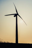 Wind power station. The wind generator is to convert wind energy into mechanical work power machinery, also known as windmill Stock Images