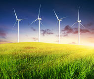 Wind power station Stock Photography