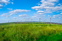 Wind power station - wind turbine Stock Images
