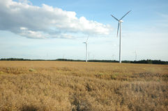 Wind power stations Stock Image