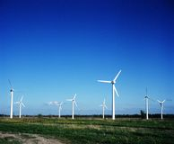 Wind power stations Stock Images