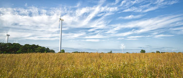 Wind Power Stations in Field Stock Images