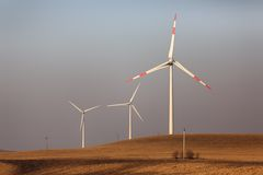 Wind power stations Royalty Free Stock Photos