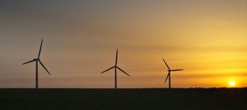 Wind power sunrise Stock Images