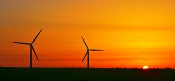 Wind power sunrise Royalty Free Stock Images