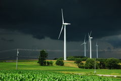 Wind power turbine stock photo