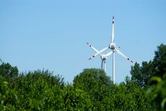 Wind power turbine Royalty Free Stock Images