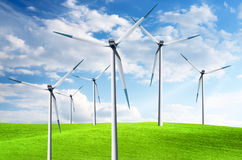 Wind power turbines Royalty Free Stock Photos