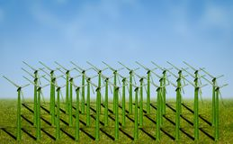 Wind power turbines Stock Photography