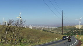 Wind Power Turbines (Green Hills & Blue Sky) Stock Images