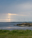 Wind power turbines Stock Images