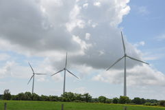 Wind Power Turbines Royalty Free Stock Photo