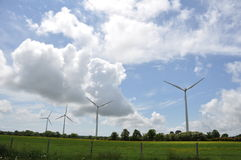 Wind Power Turbines in Western France Royalty Free Stock Images