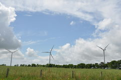 Wind Power Turbines in Western France Stock Image