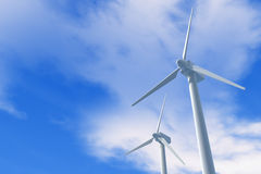 Wind Power / Wind turbines. Illustration of wind power Stock Images