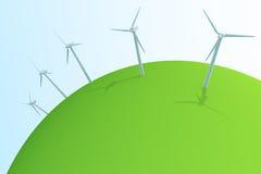 Wind Power / Wind turbines. Illustration of wind power Royalty Free Stock Photos