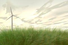 Wind Power / Wind turbines. Illustration of wind power Stock Photography