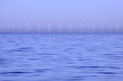 Wind power in winter Stock Photography