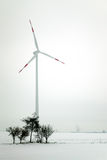 Wind power at winter Royalty Free Stock Photo