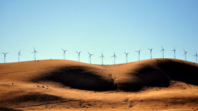 Wind-powered California. Windmills landscape nearby San Francisco Royalty Free Stock Photography