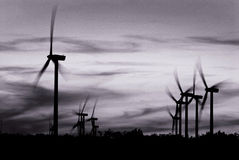 Wind Powered Electric Generators Royalty Free Stock Images