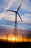 Wind powered energy Royalty Free Stock Images