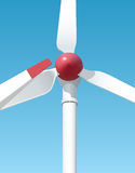 Wind-powered generation serves to the people Royalty Free Stock Photography