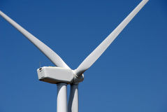 Wind powered generator closeup Stock Photos