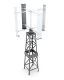 Wind powered generator of electricity. 3d rendering.  Stock Images