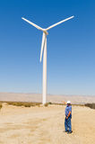 Wind powered generator Royalty Free Stock Photos