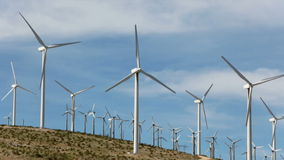 Wind powered generators near Palm Springs, CA. Wind powered windmill generators near Palm Springs, CA stock video