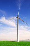 Wind powered turbine Royalty Free Stock Photos