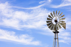 Wind powered water pump Royalty Free Stock Photography