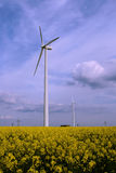Wind powermills Stock Images