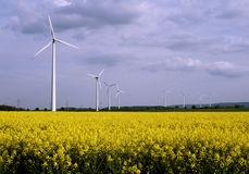 Wind powermills Stock Photography