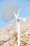 Wind powerstation - alternative energy source Royalty Free Stock Photo