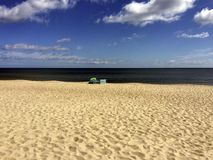 Alone at the beach on the German Baltic Sea stock images