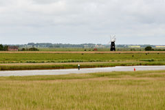 Wind pump on the River Waveney Royalty Free Stock Photos