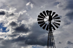 Wind pump for well water Royalty Free Stock Images