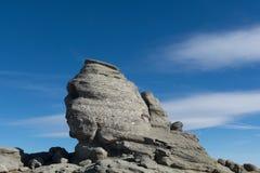 Sphinx of Bucegi Mountains stock image