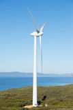 Wind Renewable Energy Farm Australia. Wind farm at coast of Southern Ocean in Western Australia, supplying clean renewable energy to Albany, summer sunny blue Royalty Free Stock Photos